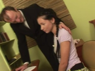 Demure honey gets her lovely seize ravished by teacher