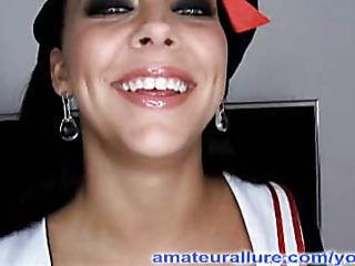 Mila is back and all dressed up as a cute instruct sailor, and that babe is looking for some semen. Her large eyes just engulf u in and her cute instruct pigtails just send u recklessness the edge. Mila is a wicked beauty and this babe sucks and copulates me into a l