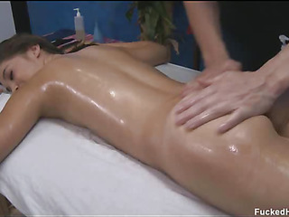These 3 girls fucked hard by their massage psychiatrist after getting a soothing rubdown
