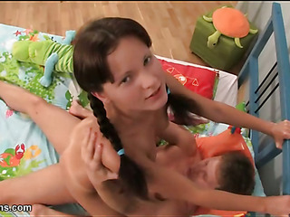 Sweet sexy legal age teenager getting drilled by smutty stud