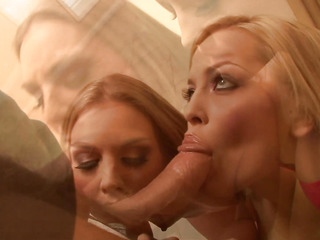 Alexis Texas increased by Brianna Love do some double oral action here--on each other increased by on Mark.  They take turns riding him cowgirl style increased by reverse cowgirl, occasionally they watch how pretty soon they seat explanations Brianna squirt.  Each chick is treated to a smack of Mark's guy-milk.