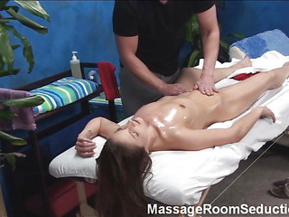 Drown in the world of excitement and beauty with this scene and u wouldn't regret with reference to this great experience! Just witness how pretty male is screwing raunchy chick on massage table and u would feel hot!