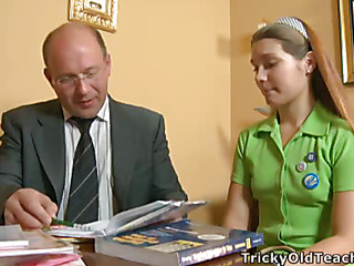 Nina liked fucking with chemistry teacher more then sitting readily obtainable his class. Quickening was ergo fun and pleasant, the coed received a great orgasm.