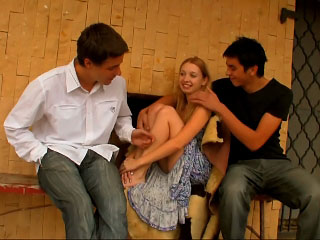 These hot teens comport oneself go off at a tangent they treasure how on touching fuck threesome