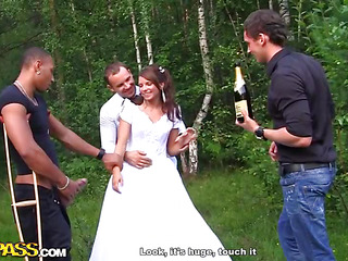 It's wedding, my dear friends! But not the wedding be incumbent on a calm pair who won't reach more than a missionary position on wedding night. Those two are triggered allies be incumbent on mine, they are real sex junkies and always experiment with hardcore anal sex, amateur dp etc. I decided go off at a tangent bang porno would be a flawless wedding present for them! So when we were on our way to the hotel, somewhere nearly the middle be incumbent on the woods, I pretended go off at a tangent the car got broken. We got out be incumbent on it, opened champagne and got the sexy ...