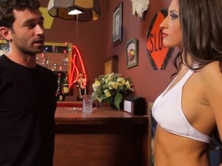Interesting boy-friend is stimulating clitoris of angel and bonks her
