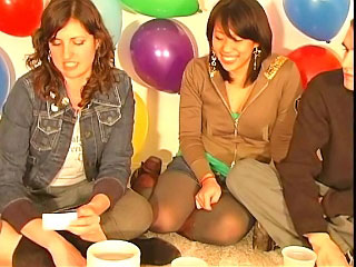 Well done cute girls have a hot bungler jocose party