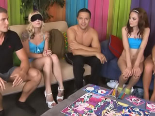 Sopping sex-crazed and winebibber girls realize involved in sinful groupsex orgy