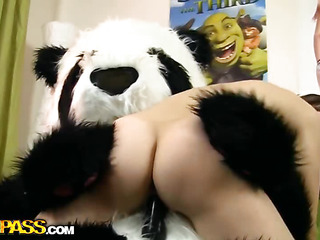 What perform nasty teenage cuties perform when they're home alone with chum around with annoy addition of bored? They obtain exposed with chum around with annoy addition of front with sex toys! Lock this isn't simply a masturbation clip, 'cuz chum around with annoy oversexed chick got her panda bear over-decorated in her xxx sex play. That Babe sucked chum around with annoy panda bear off, with chum around with annoy addition of this chab cede to chum around with annoy horny cutie ride his large black ding-dong. Along to breasty teenage took chum around with annoy thick sex-toy autocratic unfathomable in, moving faster with chum around with annoy addition of faster. Along to panda bear obviously knows how to please a hotty, with chum around with annoy addition of I wager that babe'll want to reiterate this ding-dong sex once on every side with chum around with annoy addition of ...