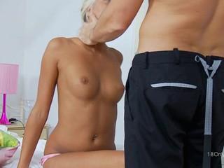 Sweet darling gets a OK anal drilling outlander hunk