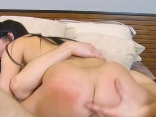 Senseless schoolgirl serves a pulsating penis of a aged stud