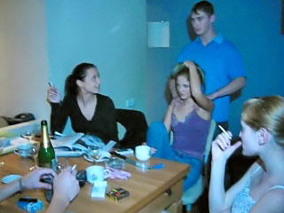 Three dispirited russian amateur teens have a hot exploitive groupsex