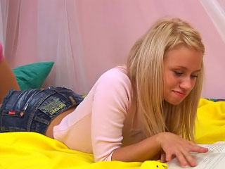 Lovely blonde youth sucking coupled with getting screwed unending