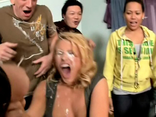 Hot gagging facial blowjob fuck and cumshot with one unsubtle