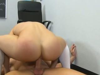 Schoolgirl gets a rambunctious hardcore fuck from her teacher