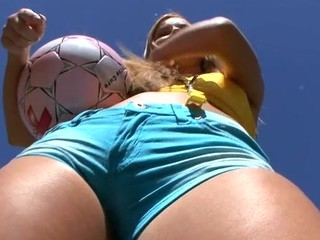 Lovely chick is moaning wildly during doggystyle drilling