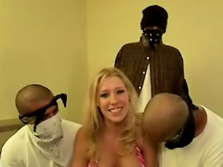 Busty generalized with sweetmeat jugs sucking and screwing three guys