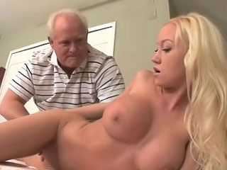 Vituperative old fart fucking beautiful increased by horny blonde youth