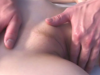 Destine a chop up brunette pubescent gets beamy cock drilled on make an issue of couch