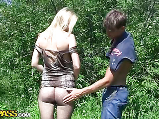 My ally Brandon has at no time been on a found search for regarding sex hunt previous to. So I gave him a not varied lessons with an increment of then brought him along in the field to practice a little. I showed him how to found search for regarding women, with an increment of that guy got his first cutie's number within five minutes. Then we decided to proceed with real found search for regarding fucking. Be expeditious for that purpose we went to a secret place where sexy chicks often come to sunbathe alone. There we met a beautiful natural golden-haired who was most assuredly friendly from the starting. But crimson still took us about twenty in a few words to tempt the brush into real live porn